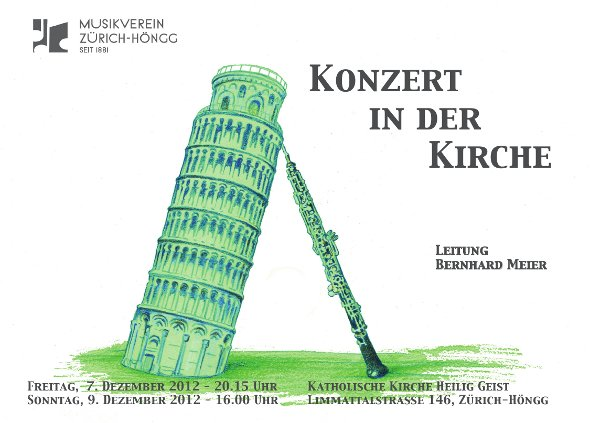 Flyer Kirchenkonzert 2012